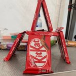 In between kart practice sessions a spot of @KITKAT building