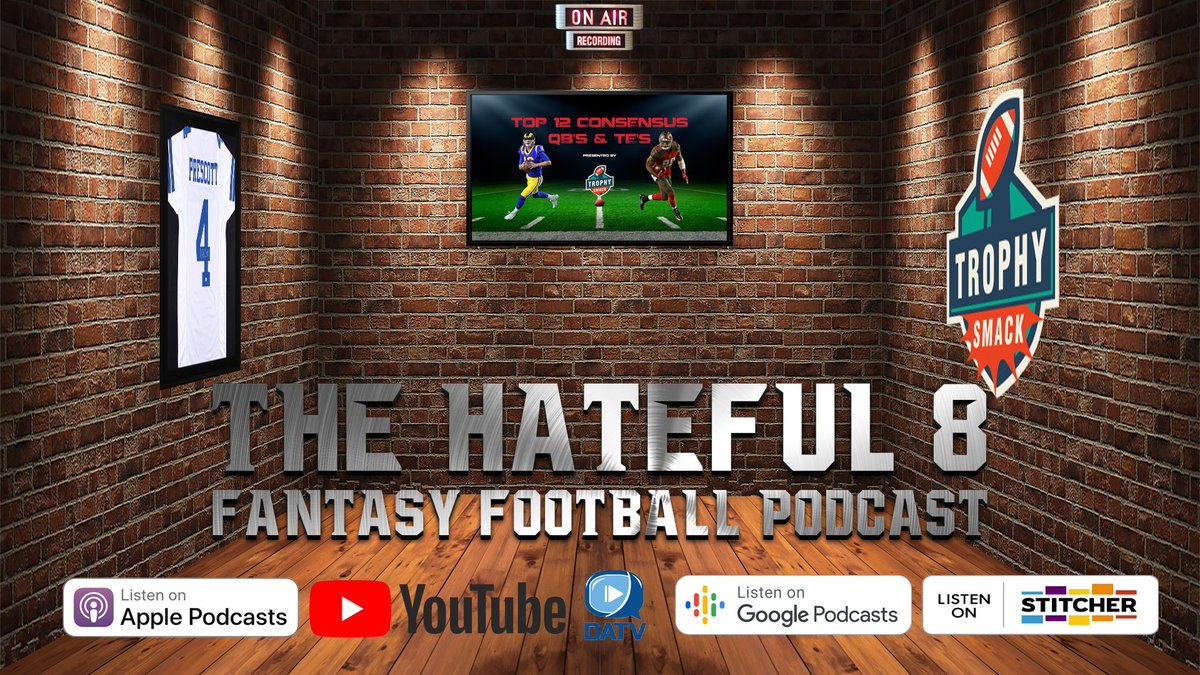 🚨New Show🚨 Top 12 Consensus QB's and TE's #FantasyFootball #FantasyFootballAdvice #FantasyFootballPodcast YouTube- youtu.be/zbMIMEzch_Q Apple Podcast- podcasts.apple.com/us/podcast/the… Google Podcast- podcasts.google.com/?feed=aHR0cDov… Stitcher Podcast- stitcher.com/podcast/the-ha…
