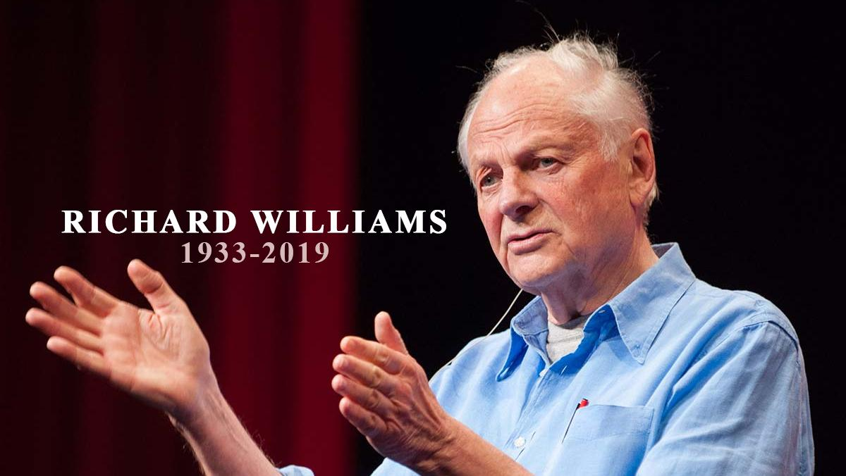 Today the animation world mourns the loss of a great man. Director, animator, teacher and friend Richard Williams. Your films and teachings will live on forever. You will be missed Mr. Williams. Rest in Peace Mr. Williams. (1933-2019) traditionalanimation.com/2019/rest-in-p…