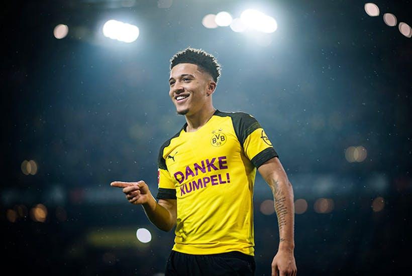 Meanwhile in the Bundesliga, Jadon Sancho is back to his old trick for Dortmund... Scoring goals! ⚽️