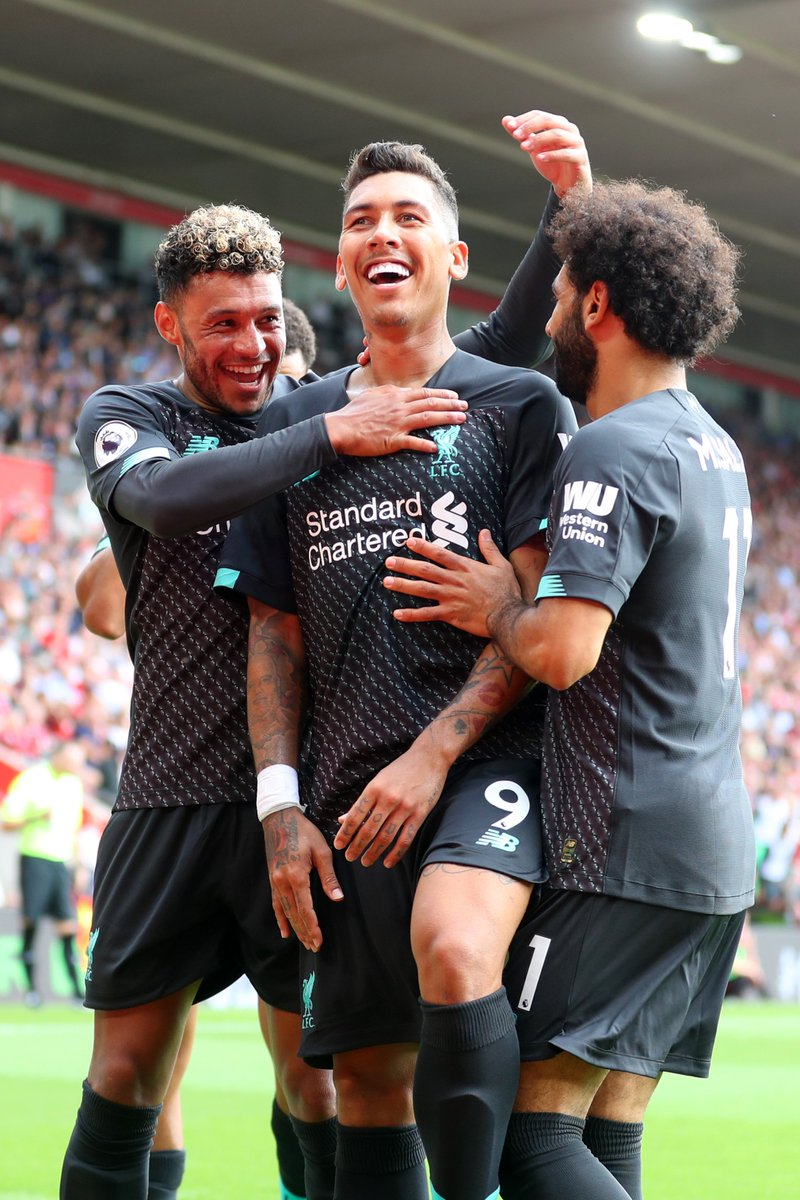 There goes Firmino and his celebrations again 😅  #LIVSOU