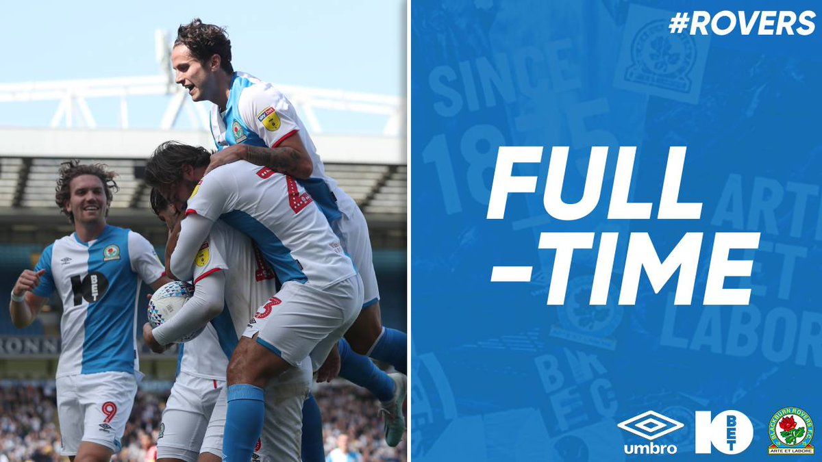FT: #Rovers 1-0 #Boro 🙌 That winning feeling! That was for you, Uncle Jack! 💙 #ROVvMID 🔵⚪️