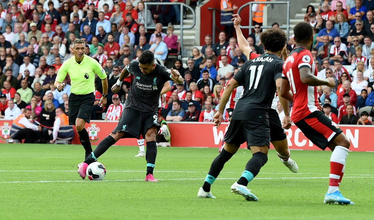 FULL TIME Southampton 1-2 Liverpool  Sadio Mane and Roberto Firmino's strikes either side of the break was enough for victory, despite Danny Ings' late goal  #SOULIV