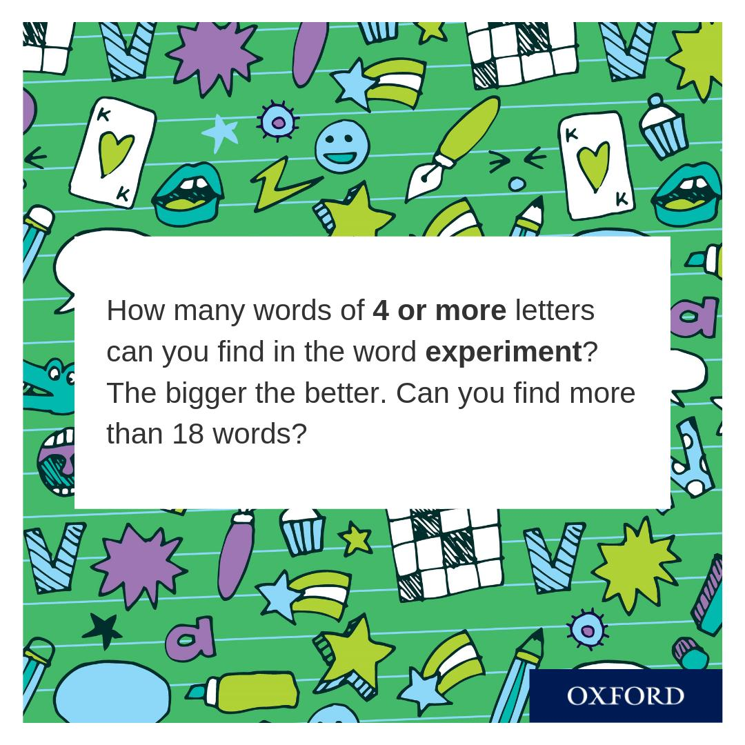 Our final #PuzzleoftheWeek comes from the Bond Word Puzzles book! Full of mind-bending challenges, kids will love this as a holiday activity book. Remember to tweet us your answers! Buy the book and find more #free puzzles on Oxford Owl: ow.ly/wkRu50vlp36