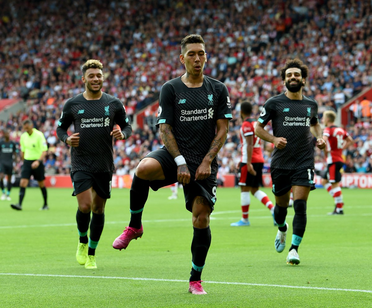 Top performance, top celebration from Roberto Firmino 🕺