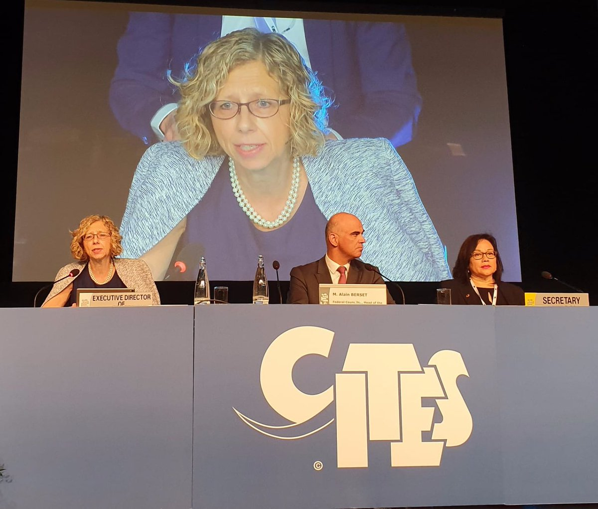 Honoured to speak at the opening of the 18th Conference of Parties to @CITES. #CITESCoP18 #WorldWildlifeConference My remarks 👉 bit.ly/31NQowO