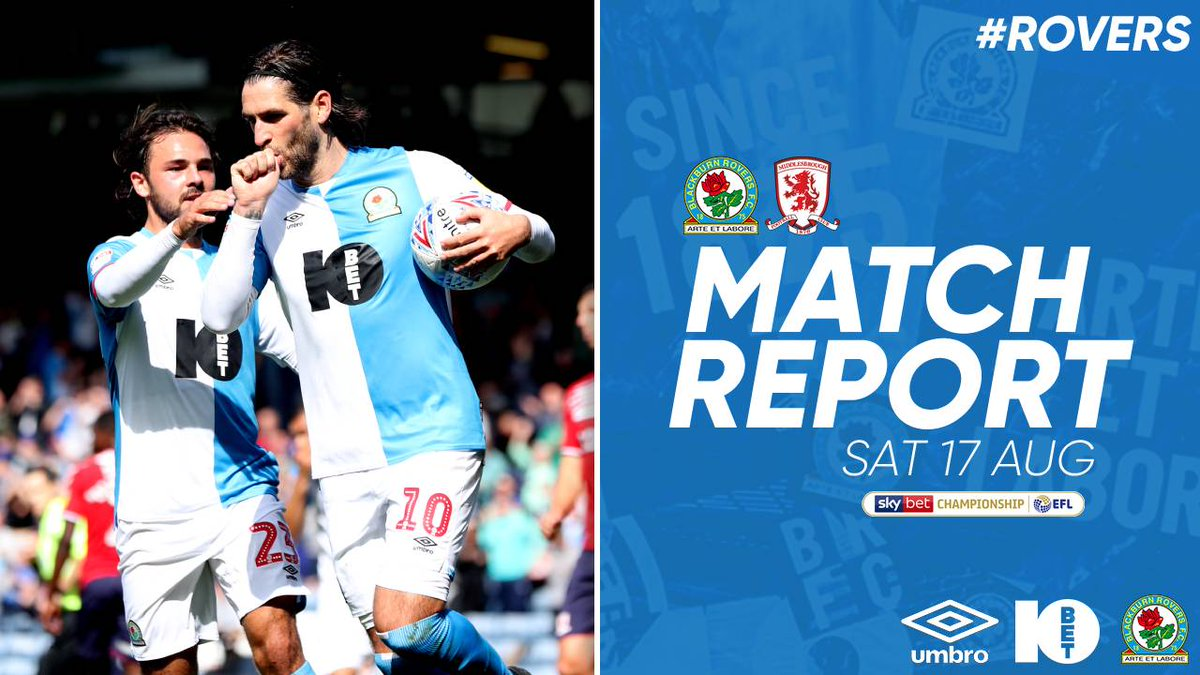 📝 Match Report Danny Graham is the hero as #Rovers get off the mark with a narrow victory against the #Boro at Ewood Park. ➡️ bit.ly/Report-ROVvMID #ROVvMID 🔵⚪️