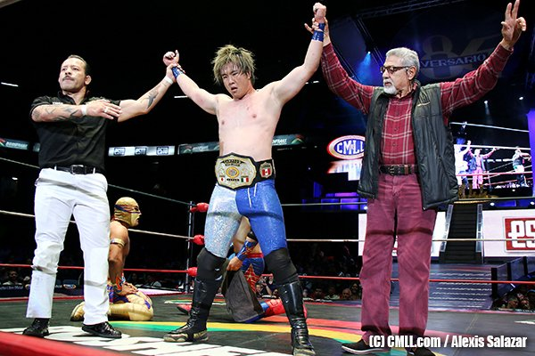 In June, Kawato-san, known to NJPW fans as the former Young Lion Hirai Kawato, won his first career championship in CMLL.  Fans can now watch that match on @njpwworld with special guest Japanese commentary by none other than Jyushin Thunder Liger!   http:// ow.ly/li9l50vxb38      #njpw<br>http://pic.twitter.com/wN26q2S8ol