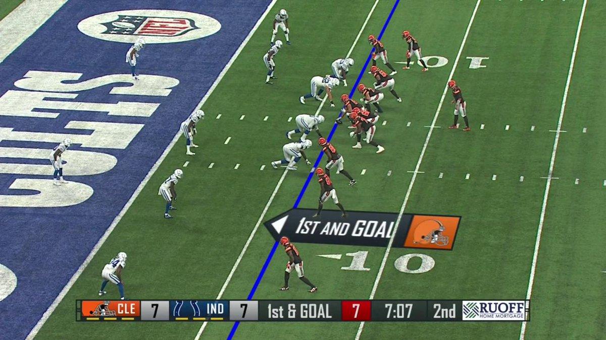 Garrett Gilbert finds DErnest Johnson for the score! 📺: #CLEvsIND on NFL Network (or check local listings)
