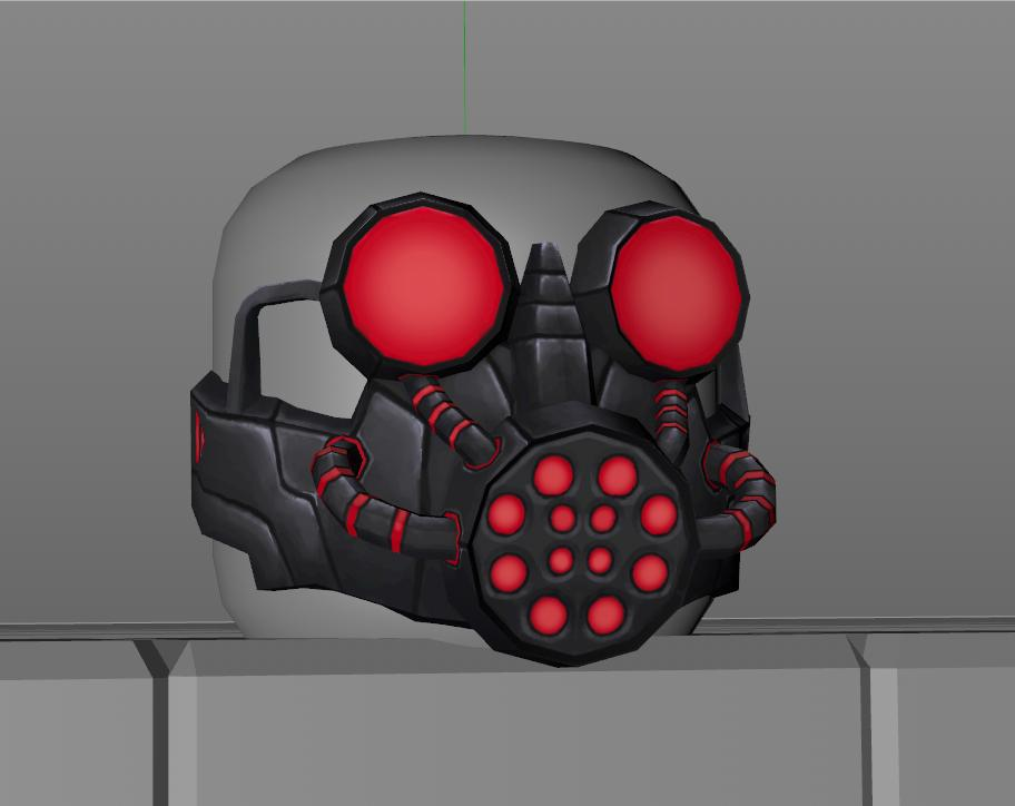 Idhau On Twitter I Modeled The Red Gas Mask Concept From My