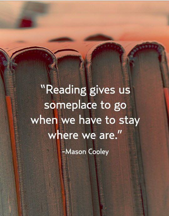 """Reading gives us someplace to go when we have to stay where we are."" #BookQuotes #amreading<br>http://pic.twitter.com/GrRIdaibxE"