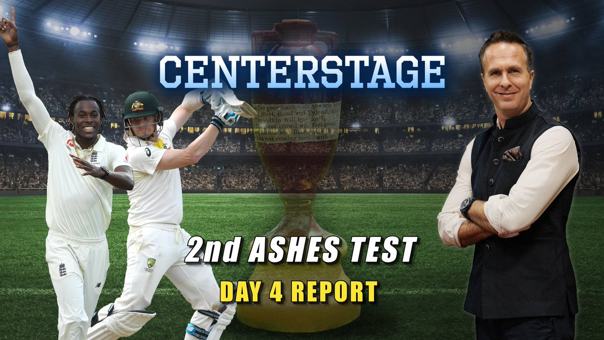 Archer will send shivers down batting line-ups across the world, said @MichaelVaughan while discussing the riveting action on Day 4 of the 2nd Ashes Test with @collinsadam on #Centerstage. #Ashes2019 #ENGvAUS #Smith #Archer