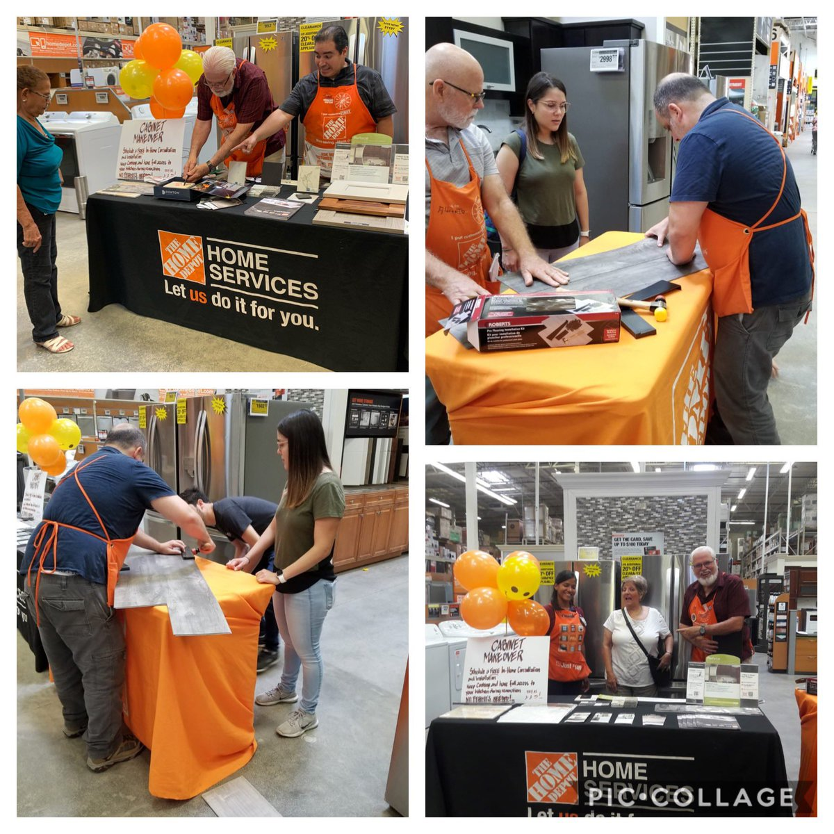 A quick One time Stop to Learn about Flooring, Countertops and Cabinet MakeOver !! Our customers Enjoyed it and we had a great day driving Sales !! #Workshops #OrangePromise #1RegionSFL<br>http://pic.twitter.com/7B2RnzoEr5