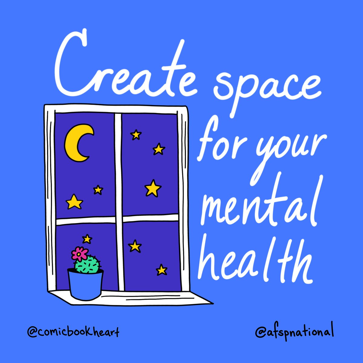 Its okay to make space for yourself and your mental health! 🌕 🌟 🎨 : @comicbookheart