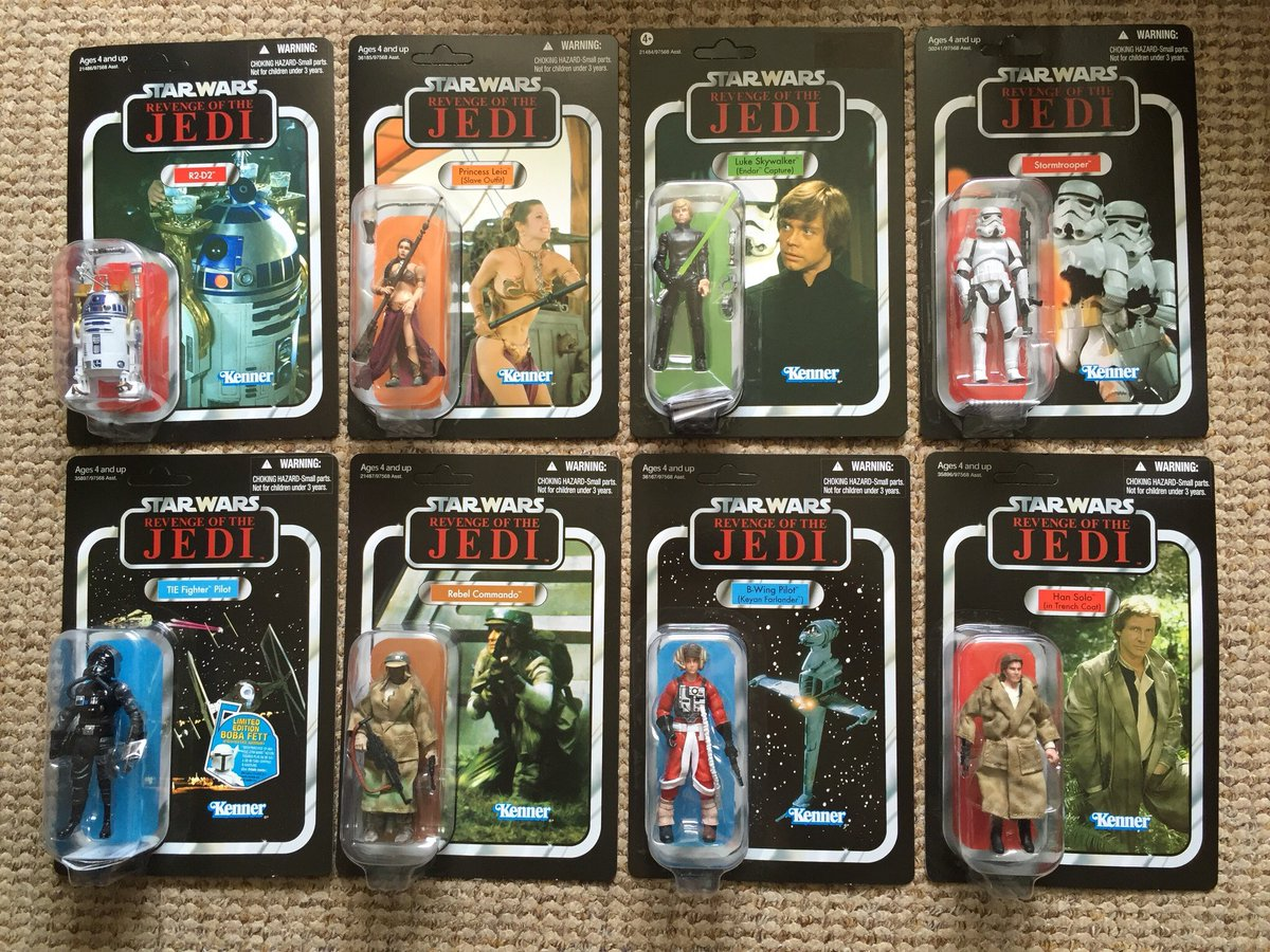 SDCC Exclusive VC #StarWars 'REVENGE' of the Jedi 14 figure full set including the super rare Salacious Crumb & Mouse Droid mini cards.  #TheVintageCollection<br>http://pic.twitter.com/qWCYhMHUYh