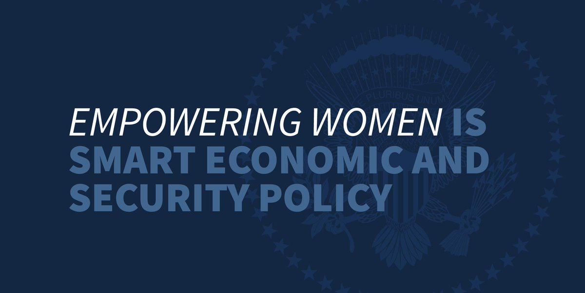 Thanks to President @realDonaldTrump, we're the first country with comprehensive legislation on women's leadership in political and civic life. 🇺🇸 https://t.co/ENgd3bEkOc https://t.co/lbpC97oNlu
