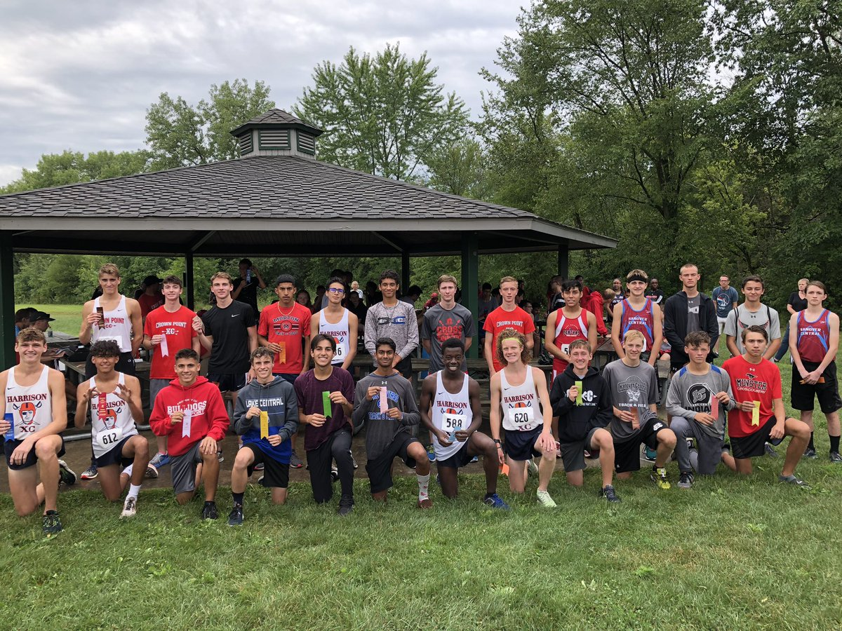 Congratulations Harrison (WL)! Crown Point Invitational Champions! 2nd CP, 3rd LC, 4th Mun, 5th HC, 6th Cal, 7th RC, 8th HM, 9th CASB. We got wet, but it was fun! Here are your top 25 finishers! Go CP! <br>http://pic.twitter.com/FUcE2X5SSU