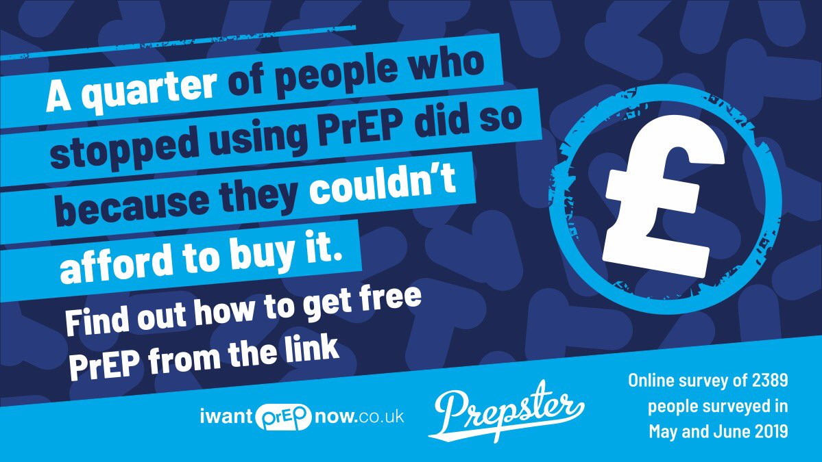 A quarter of people who stopped using #PrEP did so because they couldnt afford it. Clinics have spaces available on the Impact trial, for more info: iwantprepnow.co.uk/prep-on-the-nhs If you cant afford it you may be eligible for @THTorguks PrEP Access Fund: tht.org.uk/our-services/o…