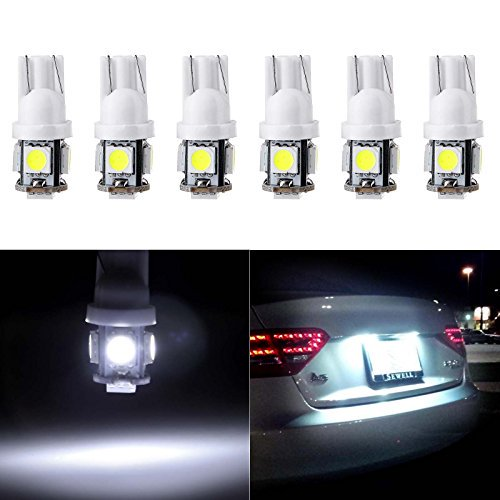 Motorcycle LED Strip Light,cciyu 6Pack RGB Waterproof LED Under Dash Lighting Kit 15-SMD White