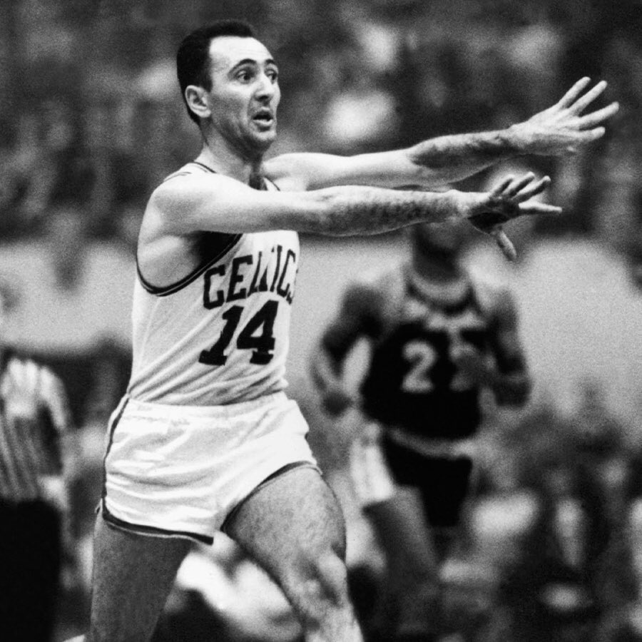"Bob Cousy x #NBAAssistWeek   ""Cooz was the absolute offensive master,"" Tom Heinsohn told the Boston Herald in 1983. ""What Russell was on defense, that's what Cousy was on offense -- a magician. ... He'd find us. When you got into a position to score, the ball would be there."""