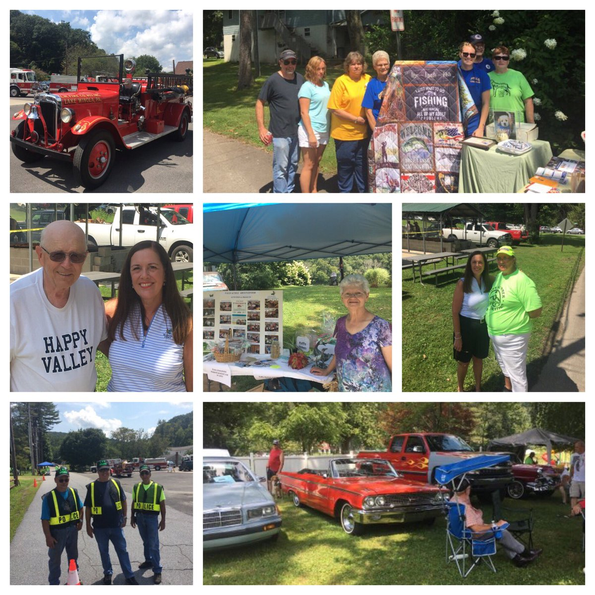 Picture perfect day for the Falls Community Festival with @lionsclubs chicken BBQ, car show, vendors & more.