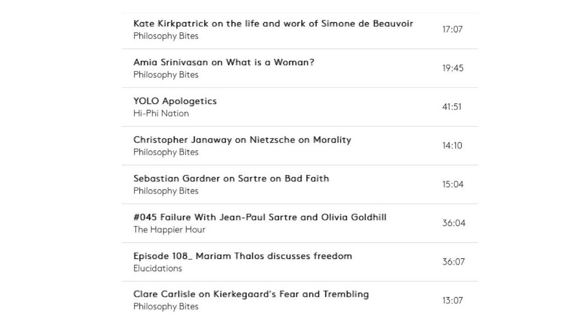 Airing next 24 hours: Existentialism podcast playlist by @Skye_Cleary, with episodes from @philosophybites & @DavidEdmonds100 @HiPhiNation @MissMMcCarthy @ElucidationsPod Tune in to stream here: truesciphi.org/radio.html Find episodes here: truesciphi.org/themes.html