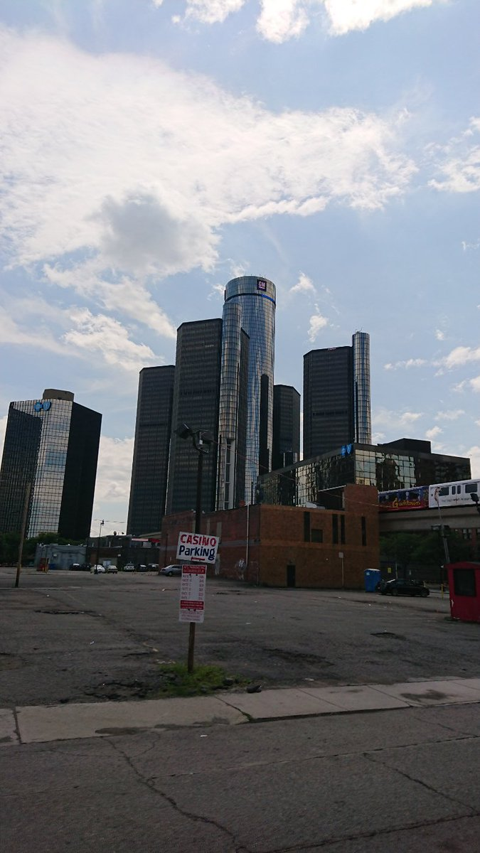 The GM HQ, #DETROIT. As a car nut I feel like Ive arrived in Mecca.