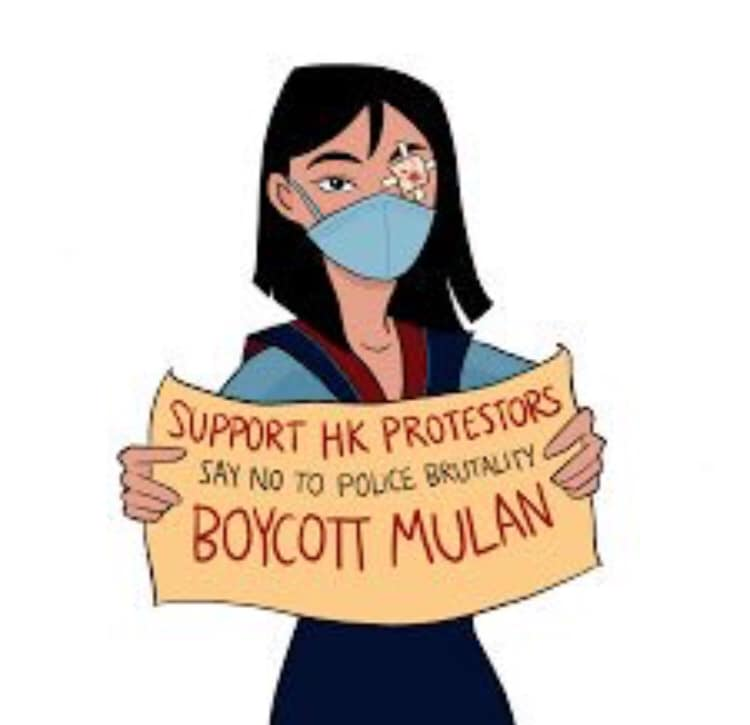 RT @EchoWaiWong1: #boycottMulan Chrystal Liu supports police brutality in Hong Kong.   Let's go back to real Mulan https://t.co/Tq7oVrlWa1