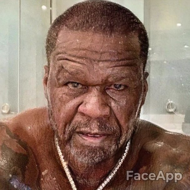 50cent 75 years later #faceappchallenge <br>http://pic.twitter.com/bnOvXDHLjh