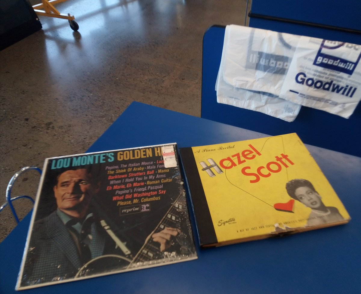 #ThriftShopDay  A 5 -second find! Replacing an #Italian record that's worn. Not the original, but Lou Monte greatest hits will do for now! #comedian / laughter in the house #gifts #jazz #Hazelscott   $1.99 each.  #Thrifting #Goodwill<br>http://pic.twitter.com/99Mz2sTGkg