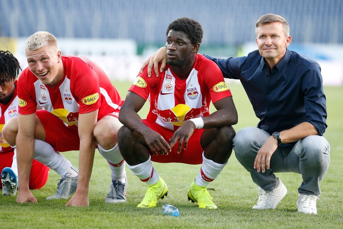 19-year-old Sékou Koïta scored his first goal for Red Bull Salzburg today.It's been a good summer for him: he ended his Wolfsberger loan well, excelled at the #U20WC, competed at the Africa Cup of Nations, and now this. Big prospect.