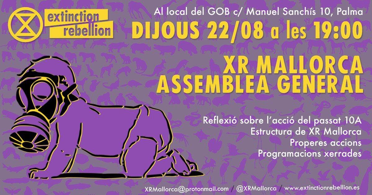 XR Mallorca. Assemblea general (22-08-19)