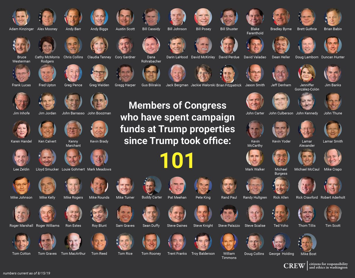 Donald Trump has a cottage industry of being paid by Republicans in Congress