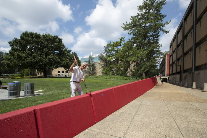 Main Campus is getting a fresh coat of paint before the start of the new semester.
