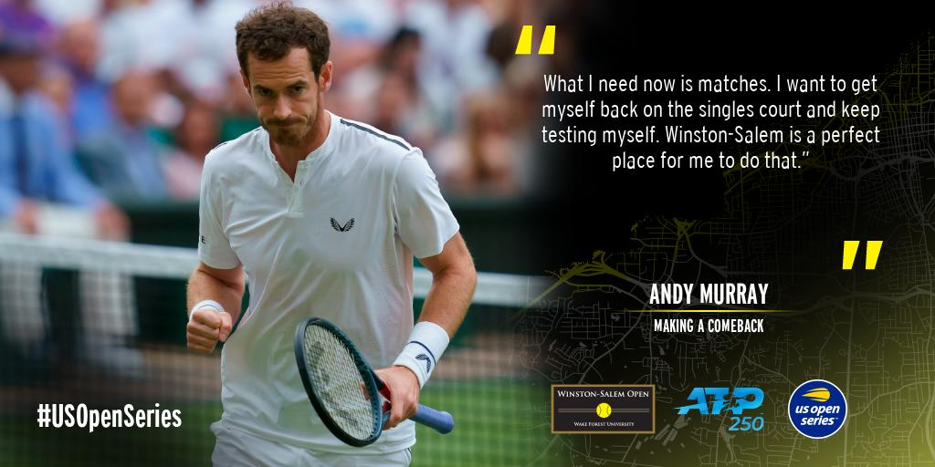 We're here for you, Sir Andy.     -- : cameraworkusa  #andymurray #comeback #wsopen #builtforthesouth<br>http://pic.twitter.com/99hdRWPpno