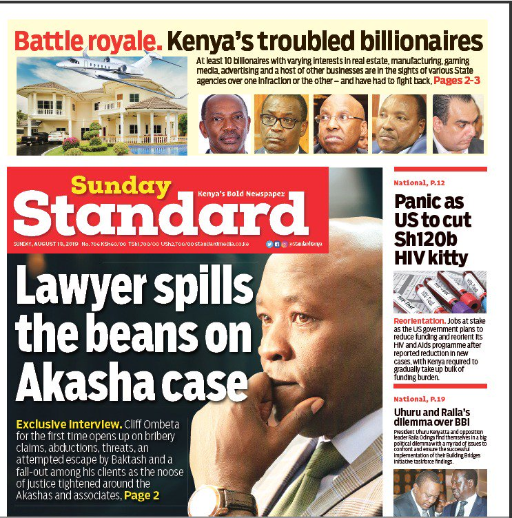 Kenya's troubled billionaires - Standard Digital News Grab a copy of the Sunday Standard from your nearest vendor Subscribe: epaper.standardmedia.co.ke :