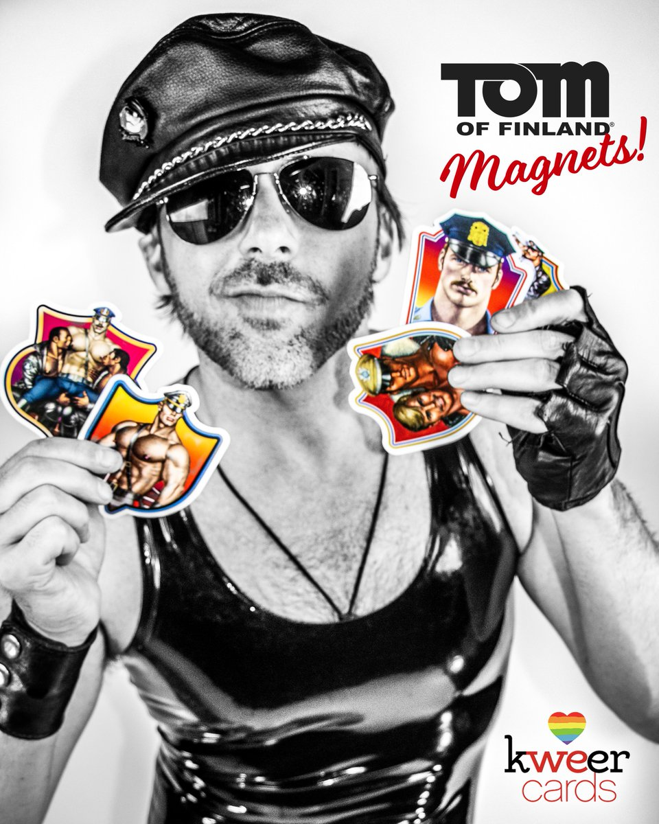 We are down to our LAST PACKS of our #TomOfFinland magnets. Pick them up today before they're all gone!!  http://www. kweercards.com/shop/tomoffinl and-magnets  … <br>http://pic.twitter.com/X7IPr65DJy