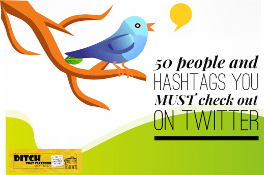 50 people and hashtags you MUST check out on Twitter ditchthattextbook.com/2016/10/27/50-… #ditchbook #edtech