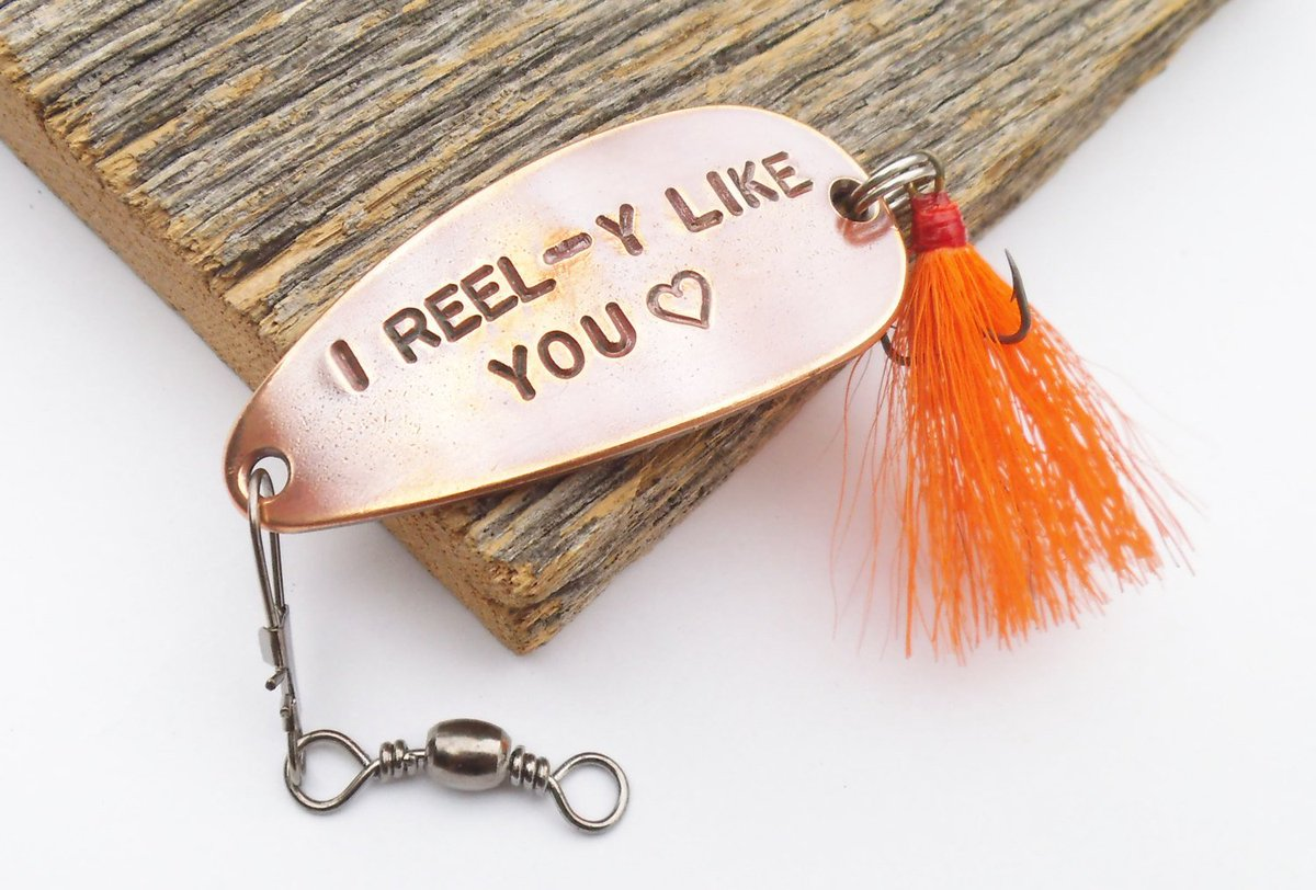 I Reel-y Like You - Personalized Spoon Lure for Boyfriend or Girlfriend http://tuppu.net/3e6d5b7f #Shopify #CandTCustomLures #Valentines_day_guy