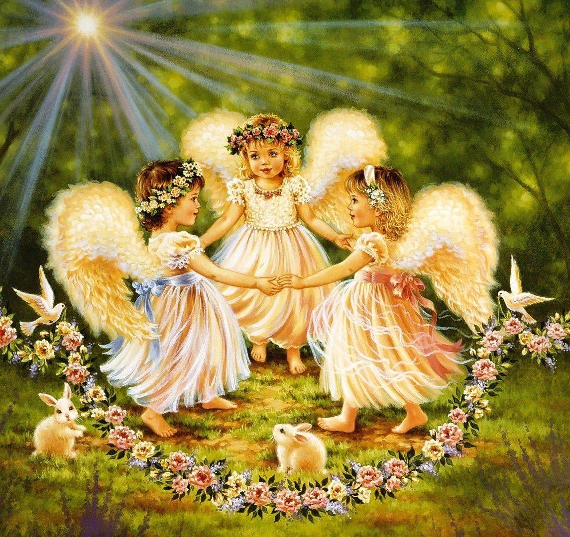 Картинки ангел с днем рождения