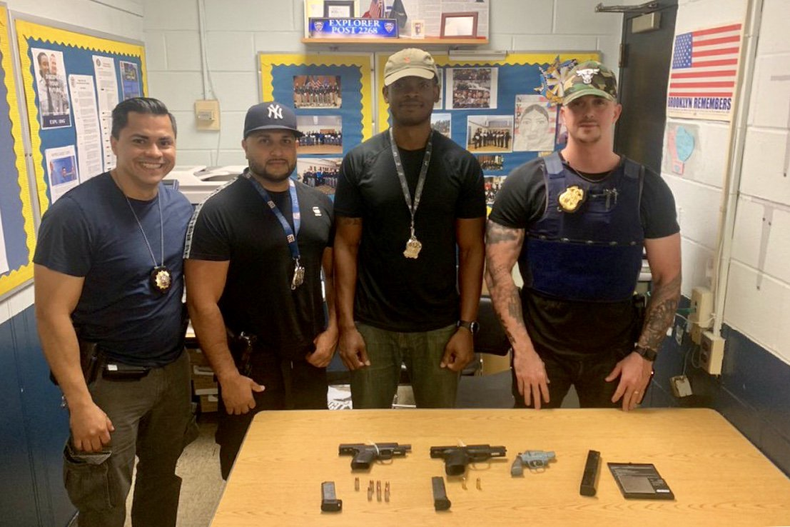 Following an arrest, the @NYPD68Pct Field Intelligence and Anti-Crime Teams secured a search warrant and recovered three firearms! This is just one of countless examples of how our NYPD cops are keeping the people of NYC safe every single day.