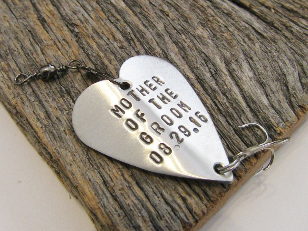 Mother of the Groom Gift from Bride to Mom on Wedding Day Mother's Keepsake Mother of the Bride Gift Fishing Lure for Her Mother in Law Gift http://tuppu.net/b91c7f23 #Shopify #CandTCustomLures #On_wedding_day
