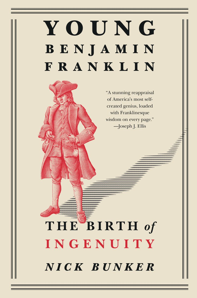 In paperback Tuesday... ...[Franklin] played his many parts as scientist, politician, ambassador, and rebel. His earlier life was something else entirely: provincial, obscure, and all but impossible to reach.—from YOUNG BENJAMIN FRANKLIN by Nick Bunker ow.ly/NnP950vzL4V