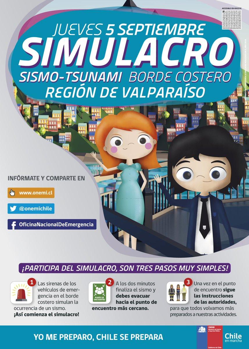 RT @RNE_San_Antonio SIMULACRO -TSUNAMI BORDE COSTERO REGION DE VALPARAISO  https://t.co/m3b1wTTtlY  @reddeemergencia @Carlos_tmk @CA2HJA @RNESANTIAGO @pueblitosanjuan