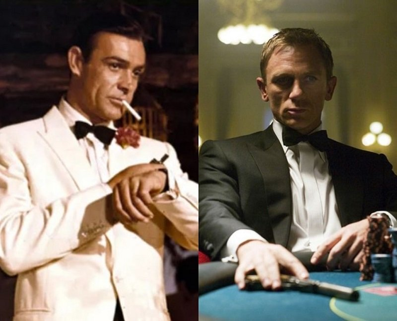 You can only pick one: #Goldfinger white dinner jacket or #CasinoRoyale black dinner jacket? #SeanConnery #DanielCraig #menstyle #blacktie #formalwear<br>http://pic.twitter.com/UAapLY24Tr