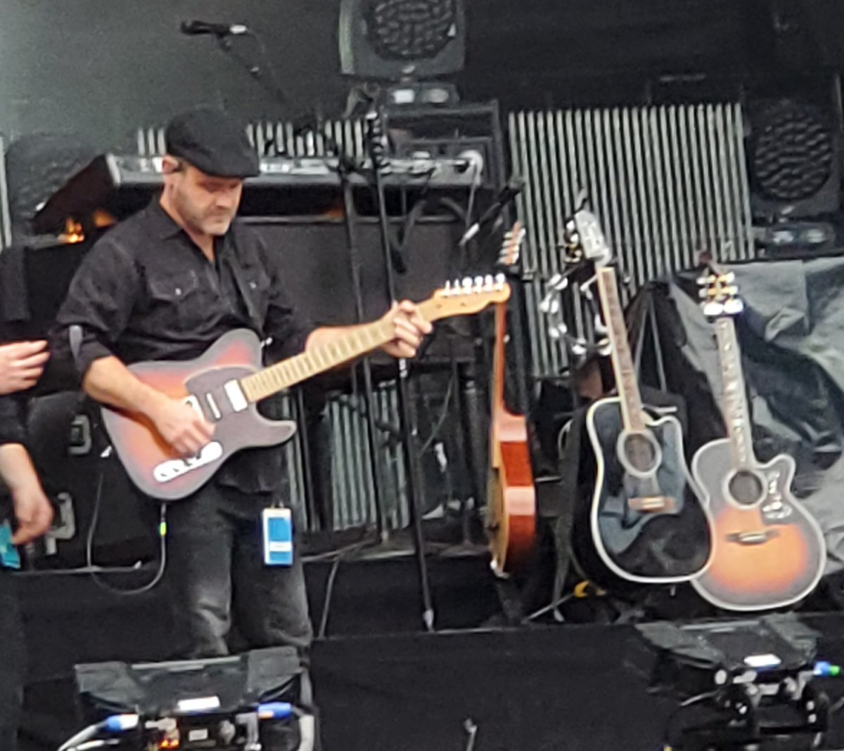 I spy @beautackett ....and @blakeshelton 's guitars  #gillettestadium<br>http://pic.twitter.com/SYTncfWDQN