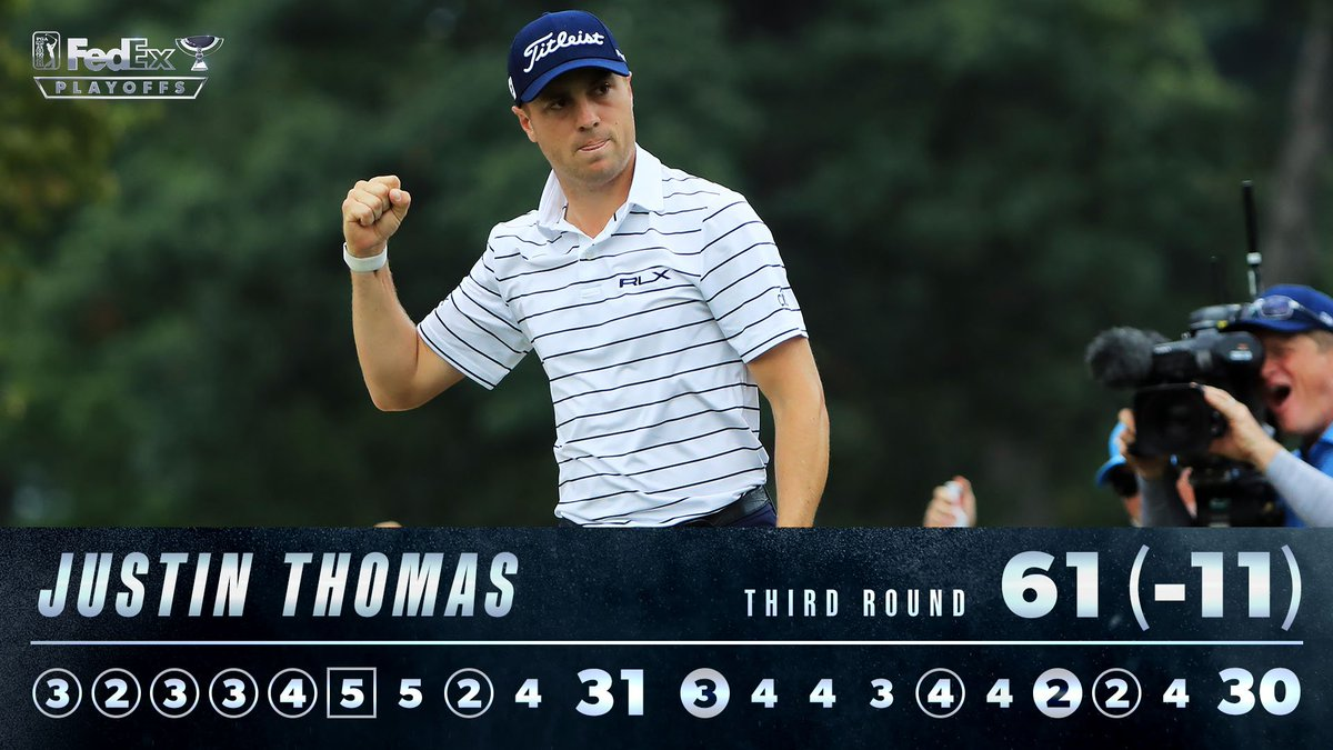 SG: Tee-to-green -  SG: Approach-to-green -  Proximity to the hole -   Can anyone catch @JustinThomas34?  He leads by six.    #LiveUnderPar<br>http://pic.twitter.com/r3DkNHwnnd