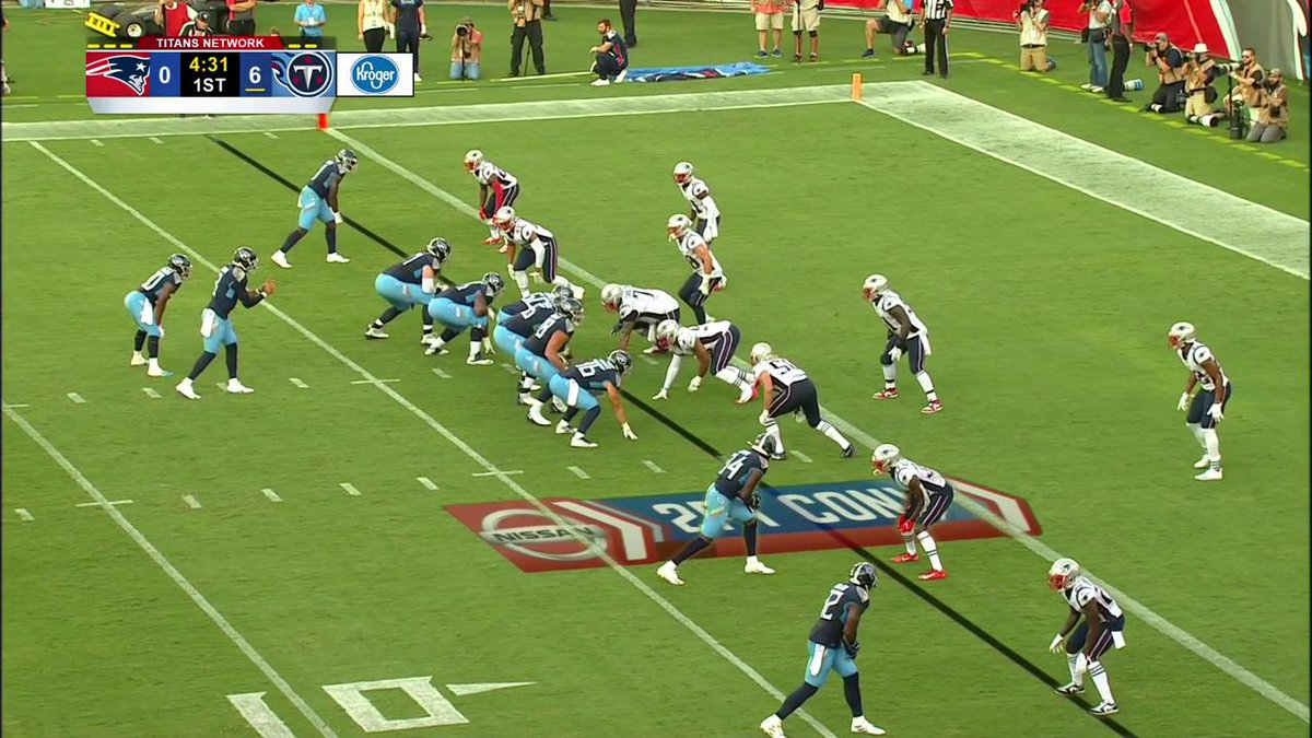 Marcus Mariota's high-flying two-point conversion 😬😳 #Titans #NEvsTEN (via @NFL)
