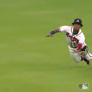 Ronald Acuña Jr. just makes PLAYS! 😮 (via @MLB)
