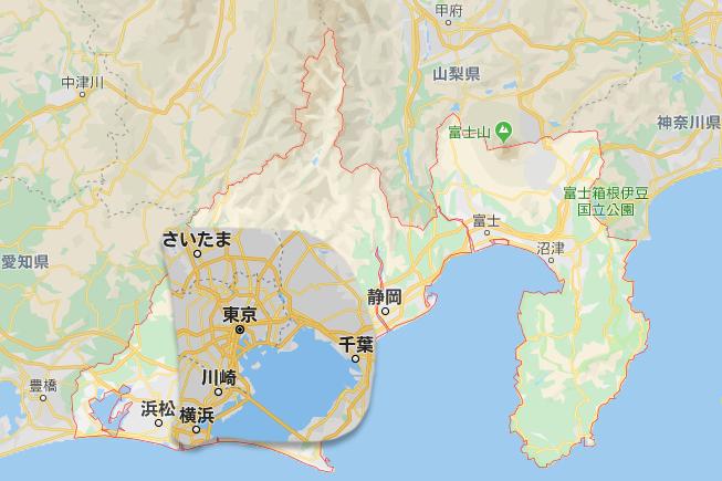首都圏の人間に伝えたい。浜松と静岡の距離感。(同縮尺)